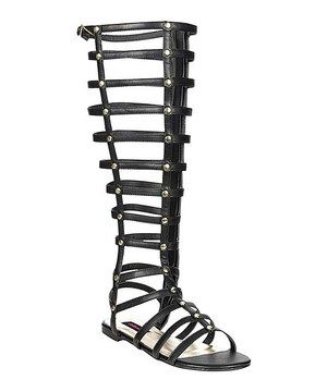 Look what I found on #zulily! Bamboo Black Maximus Gladiator Sandal by Bamboo #zulilyfinds