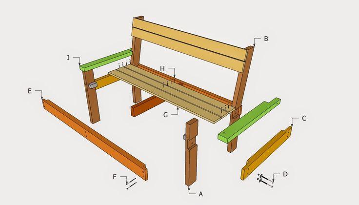 Park Bench Blueprints Woodworking Projects Amp Plans
