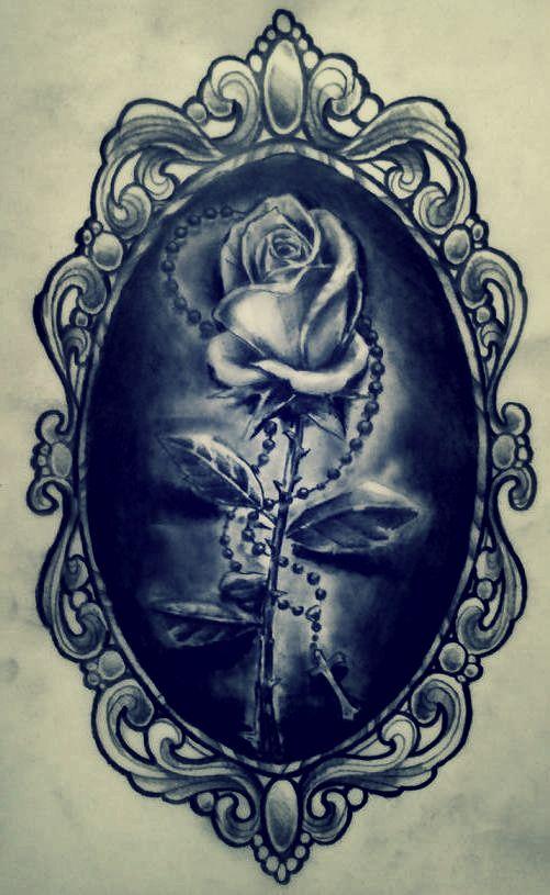 rose in a frame by karlinoboy