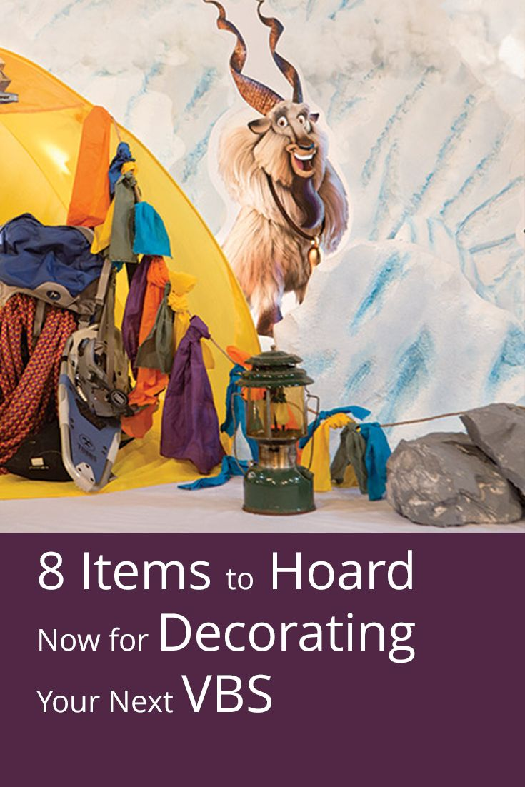 Keep these decorating items from Everest VBS and use them for Cave Quest VBS!