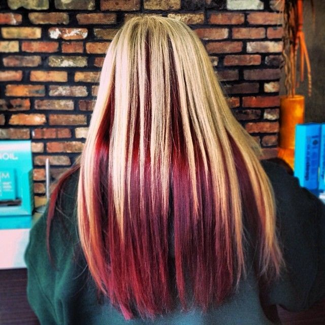 Surprising 1000 Ideas About Red Hair Underneath On Pinterest Blonde Low Hairstyle Inspiration Daily Dogsangcom