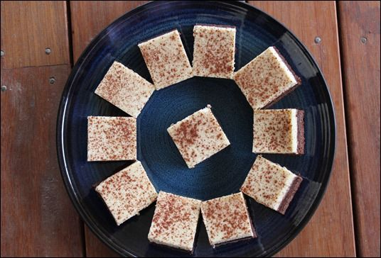 Bake Bike Blog: White Russian cheesecake slice