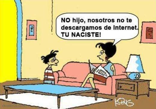 ¿De dónde vienen los nativos digitales?   #internet #humor- www.vinuesavallasycercados.com