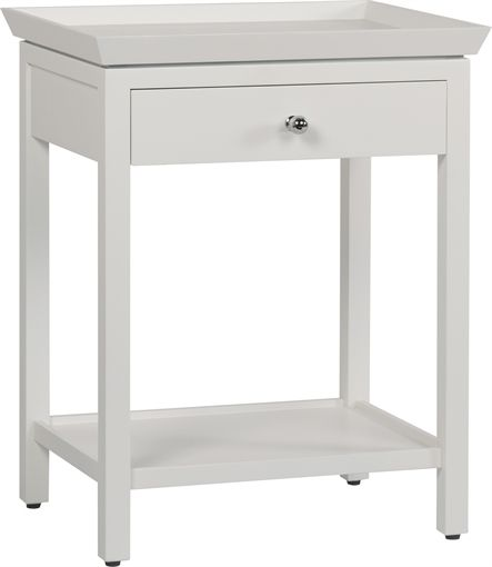 Best 25 tall side table ideas on pinterest tall bedside for Tall white side table