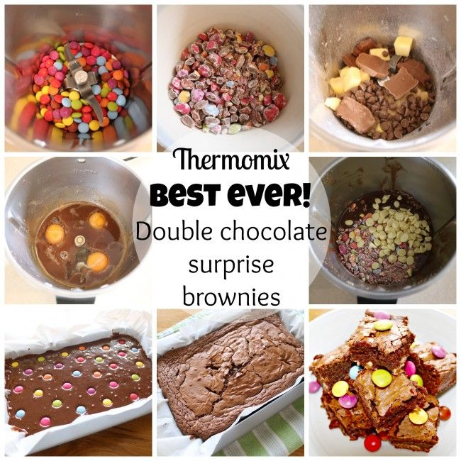 Mrs D plus 3 | The best double chocolate surprise brownies made in the thermomix | http://www.mrsdplus3.com