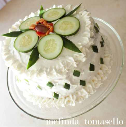 This is a sandwich cake that I made for the @p.S. Make It Your Own blog aka PSMIYO. #sandwichCake #recipe #sandwich