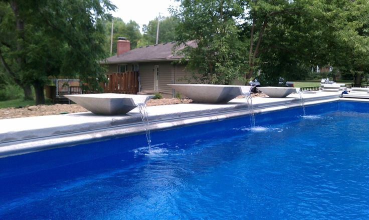 36 best vintage outdoor furniture images on pinterest - Swimming pool water feature ideas ...