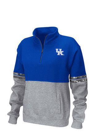 Colosseum Kentucky Wildcats Womens Rudy Blue 1/4 Zip Pullover