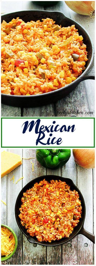 Mexican Rice is a QUICK and EASY side dish that goes from prep to table in less than 30 minutes. via @berlyskitchen