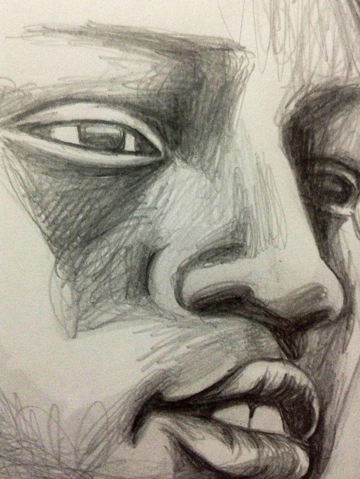 46: portrait, pencil, paper