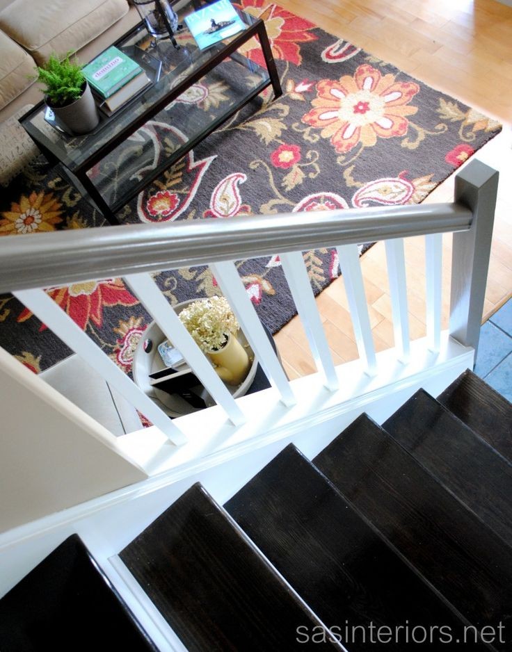 Amazing before/after post of a Staircase!  it *used* to be all carpet! via @Jenna_Burger
