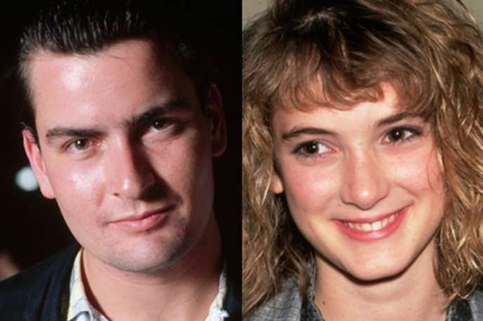 Charlie Sheen and Winona Ryder Back before all the drug use and shoplifting charges, Charlie Sheen and Winona Ryder were a couple. Sheen even takes the credit for giving Ryder her stage name.