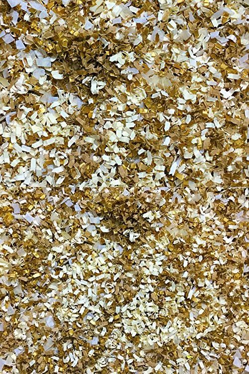Gold Ivory Biodegradable Wedding Confetti Decorations Decor Throwing Send Off InsideMyNest (25 Handfuls)