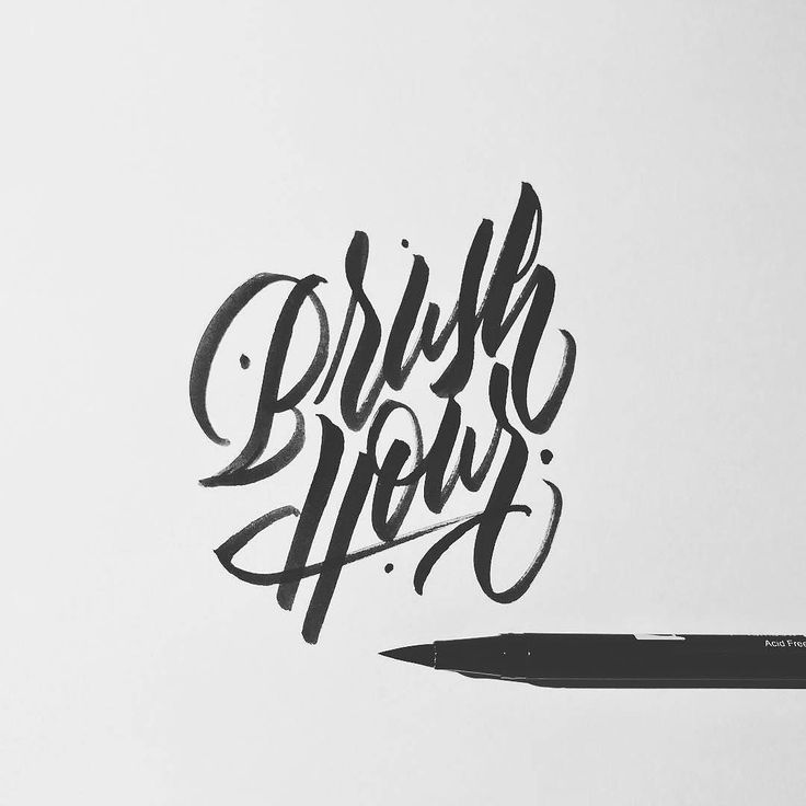 Brush hour: the time of day when it's getting late but you still want to get your brush lettering practice done. Type by @jexpo76 - #typegang - typegang.com | typegang.com #typegang #typography