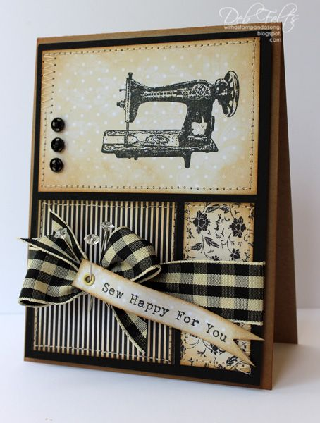 With a Stamp and a Song: A vintage design with OCL's Days Gone By and May Arts ribbon