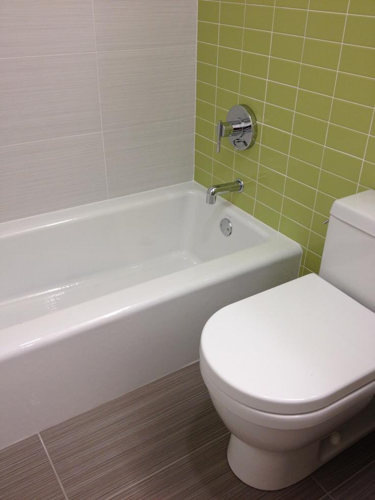 Bathroom Renovation Daltile Fabrique Gris Linen Floors