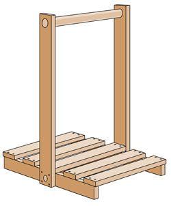 Tämän kertaisessa Tee Se Itse -sarjassa tehdään puunkantoteline. Puunkantoteline on hyvä apuväline takkapuiden hakureissulla!