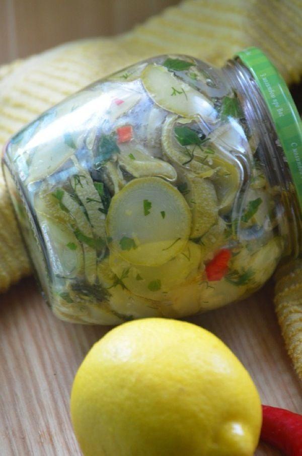 Кабачки в лимонном масле. Пошаговый рецепт