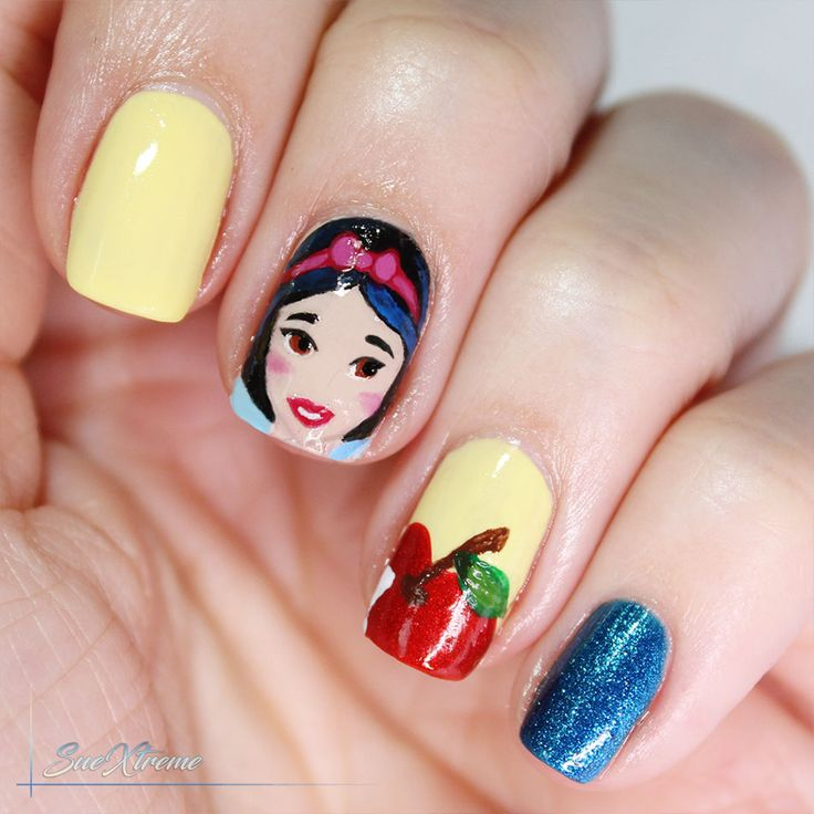 Disney nail art. Blancanieves. Snow White. Princesa Disney. Freehand. Suextreme