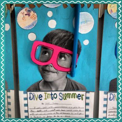"""activité """"plonge dans l'été"""" : rédige un texte pour expliquer ce que tu aimerais faire durant ces vacances. d'autres idées sur le blog"""