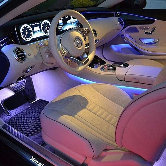 Lighting options in the Mercedes S63  Tag a friend that has to see this  . FOLLOW ➡️ @via.luxury for more high quality pictures! .   @michael_louis_
