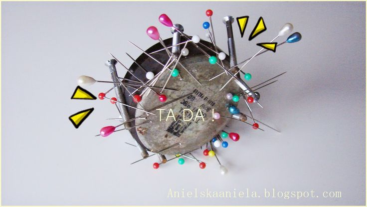 DIY  magnetic pincushion magnes na szpilki krawieckie i nie tylko
