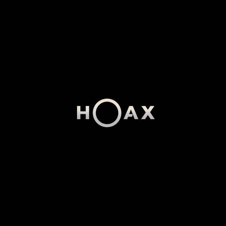 Hoax logo design typography