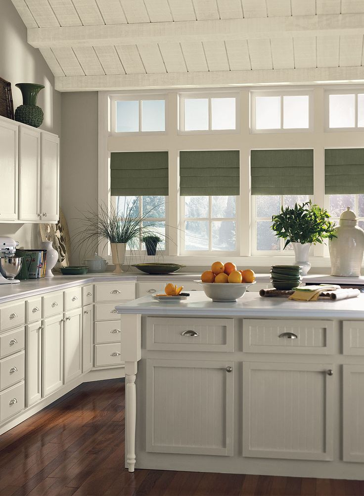 Versatile Gray Kitchen Thunder AF 685 Walls Island Cabinet