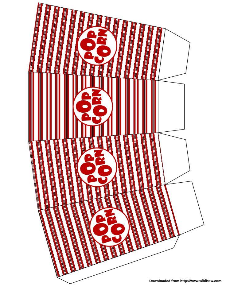 Popcorn Box Template | patterns | Pinterest