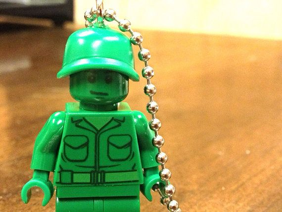 Green Army Man Necklace  Lego Minifigure  by creativityismessy, $15.00