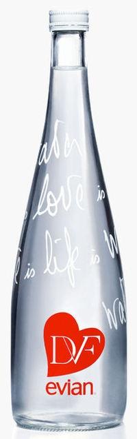 evian designers bottle