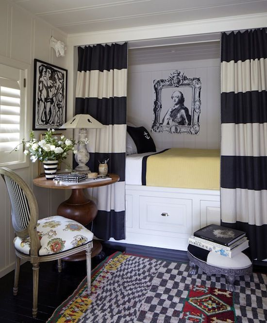 small bedroom design built in bed yellow black and white stephen