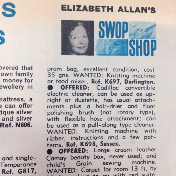 Interesting swop shop header with photograph included