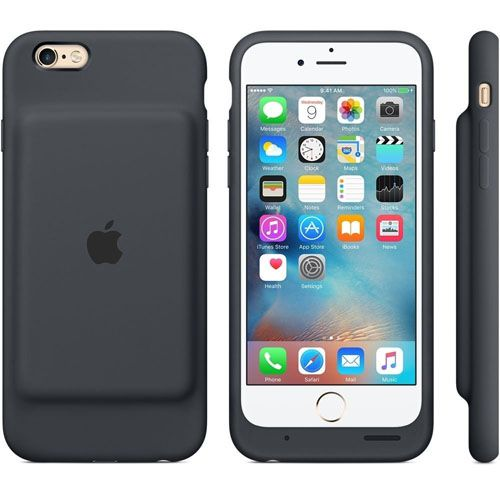 3. Apple Charcoal Gray Battery Case