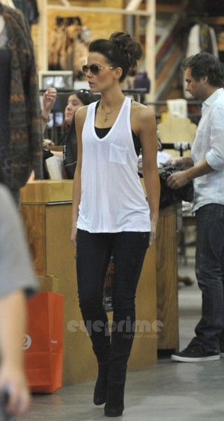 loveee this look and this lady! T by Alexander Wang Classic Tank with Pocket | Tops | Augusta Twenty