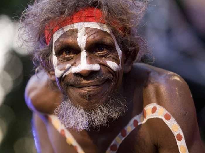Australia aboriginal man; Traditional Indigenous Dance, Darwin Festival