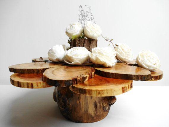 13 Wedding Cake StandWedding Centerpiece Wedding by DaliasWoodland