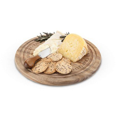Twine Farmhouse Rounded Cheese Board and Knife