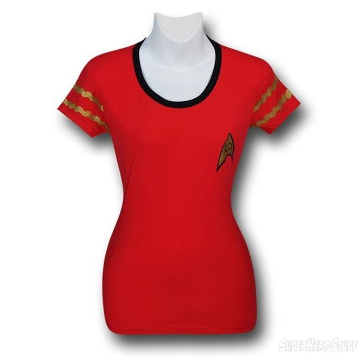 Images of Star Trek Women's Security Uniform Ringer T-Shirt