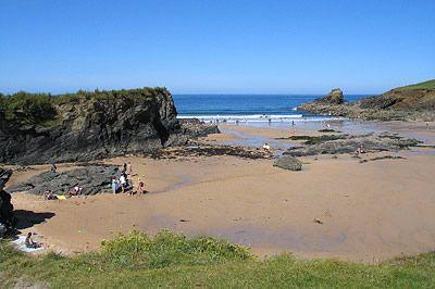 Beach at Trevone Bay, Cornwall