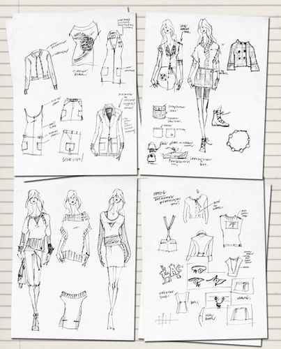 All sizes   fashion sketchbook women, via Flickr.