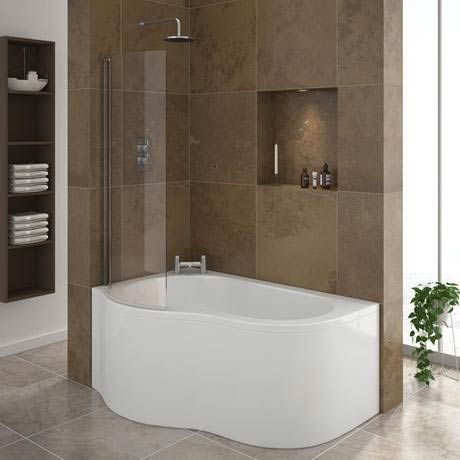 Estuary Corner Shower Bath   1500mm With Screen + Panel