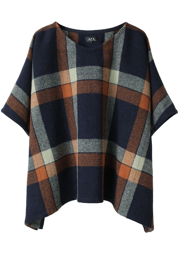 apc / tartan wool poncho.  Can I rig one out of some of the vintage wool skirts I've collected?