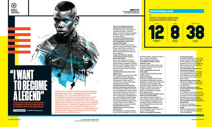 ESPN The Magazine / 0606 / World Football Photo composite by Yann Dalon http://yann-dalon-illustrateur.tumblr.com