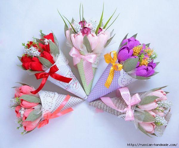 Кулечки для цветов ручной работы. Идея к 8 марта (9) (600x494, 206Kb)