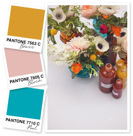 Yellow, Blush Pink and Blue Color Palette by Sarah Hearts