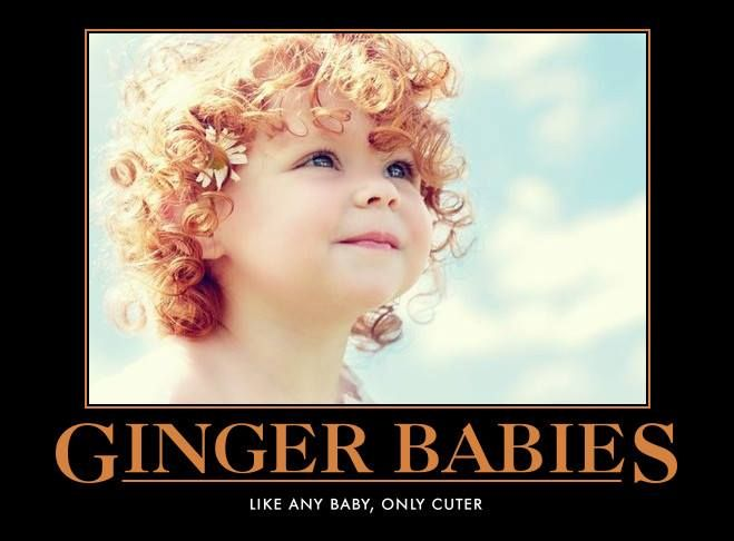 Love red headed babies...too adorable!!! Always happy to see them.