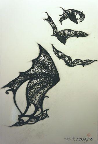 bat tattoo designs   Design for bat tattoo