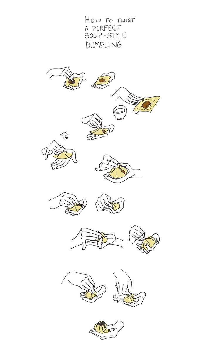 How to Twist a Dumpling Illustrated
