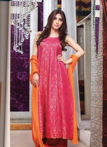 Silky Winter Dresses Collection By Sadia Asad (5)